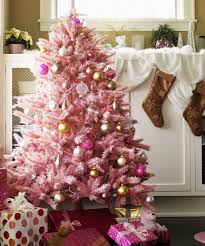 Interior Pink Christmas Tree Holiday Home Decor Instagram Trend Delightful 0