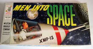 Vintage Retro Board Game Men Into Space From Milton Bradley Circa 1960