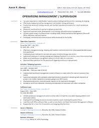 Sample Resume Transportation Supervisor New For Warehouse