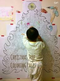 Giant Christmas Tree Coloring A4 22 Pages