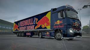 100 Redbull Truck ETS 2 MP REDBULL SKIN CAMBO PACK FULL SAVE 131X GamesModsnet
