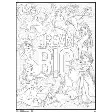 Disney Princesses Dream Big Movie Coloring Poster 18x24