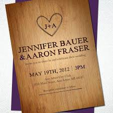 Diy Rustic Wedding Invitation Amazing Brown Woodland Cutout Invitations