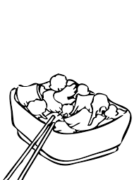 Broccoli Beef Coloring Page