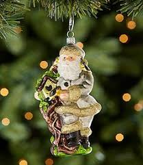 santa chooses gold over red in this christmas ornament dillards