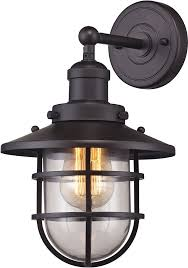elk 66366 1 seaport nautical rubbed bronze wall sconce