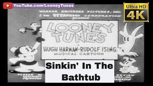 sinkin in the bathtub april 1930 the very first looney tunes