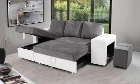 canapé d angle pouf canapé convertible avec 2 poufs groupon shopping