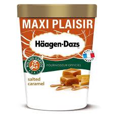 haagen dazs pot crème glacée caramel au beurre salé 567g houra fr