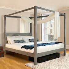 wooden four poster bed frame classic by laid beds