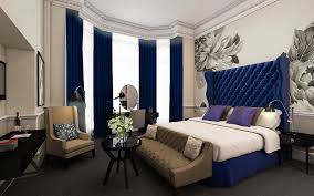 curtain inspire decoration with navy blue drapes white and navy