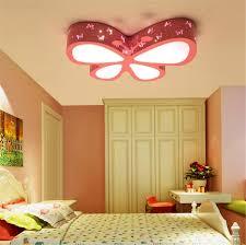 warmes licht deckenleuchten schmetterling rosa mädchen