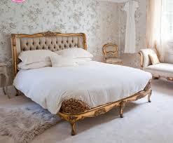 BedroomArtistic French Bedroom Decoration With Futuristic Wallpaper And Elegant Bed Idea Gold Master