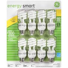 ge energy smart cfl spiral light bulb t3 warm white 60w