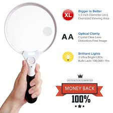 Magnifier Lamp 10x Magnification by Amazon Com Fancii 5 5 Inch Extra Large Led Handheld Magnifying