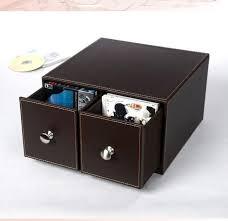 tiroir de bureau home horizontal deux tiroirs bureau en cuir cd dvd contenant des