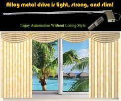 Telescoping Drapery Rod Kit by 10ft Window Curtain Drapery Remote Control Track System Ebay