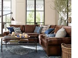 Pottery Barn Turner Grand Sofa by Creative Of Living Room With Leather Couch And Best 25 Leather