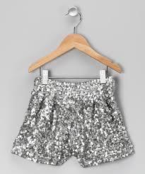 lpd silver sequin shorts girls zulily