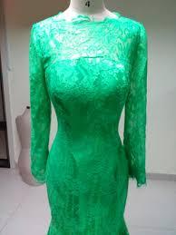 fashion red carpet gorgeous green lace celebrity dresses long
