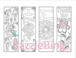 DIY Bookmark Printable Coloring Page Zentangle Inspired Mom Zendoodle Doodle PDF