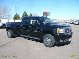2011 GMC Sierra 3500HD Denali Crew Cab 4x4 Dually In Onyx Black ...