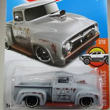 100 Ford Toy Trucks Custom 56 Truck Matte Grey 2016 HW Hot C16 S