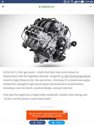100 Trucks Good On Gas Fords New 73 Gas Truck Motor Is Pushrod AND Port Injected I Like