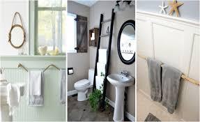 Bathroom Towel Bar Ideas by Creative Diy Towel Rack Ideas For Your Boring Bathroom Find Fun