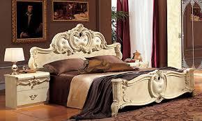 klassisches schlafzimmer komplett set beige hochglanz barock