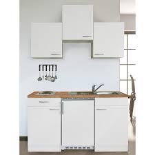 respekta küchenzeile kb150ww 150 cm weiß glänzend