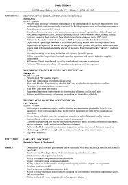 Download Preventative Maintenance Technician Resume Sample As Image File