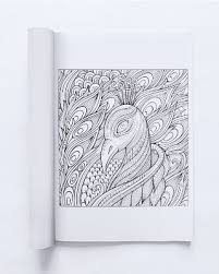 Adult Coloring Book Page Of A Peacock