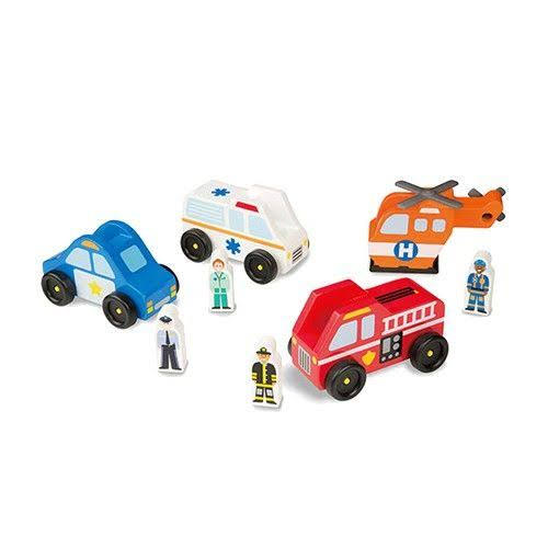Melissa and Doug Emergency Vehicle Toy Set