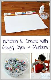 Easy Open Ended Art For Kids Creating With Googly Eyes Markers BuggyandBuddy
