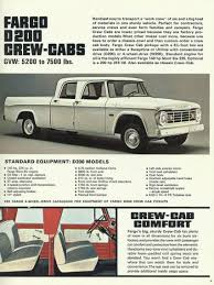 1965-71 Fargo Truck Ad Touting The Crew Cab Pickup Truck | Dodge ...