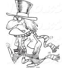Vector Of A Cartoon Grouchy Guy