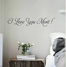 YINGKAI Romantic I Love You More Wall Decal Quote Vinyl For Home Bedroom Decoration