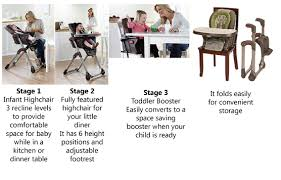 Cosco Flat Fold High Chair by Easy To Fold For Travel Or Storage 3 In 1 High Chair