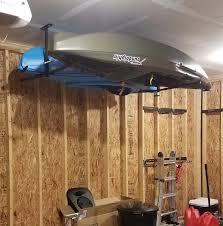 Garage Ceiling Kayak Hoist by Hi Port 2 Adjustable 2 Kayak Ceiling Storage Storeyourboard Com