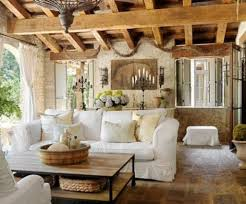 Amazing Wooden Beam Ceiling And Classic White Couch For Farmhouse