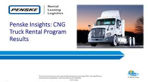 100 Truck Renta Penske Insights CNG L Program Results