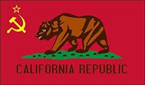 CALIFORNIA COMMUNIST Flag Sticker Anti Liberal Ca