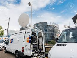 STRASBOURG, FRANCE - JUN 30, 2017: Via Storia TV Media Television ... Sis Live Delivers Sallite Truck To The British Army Svg Europe Strasbourg France Jun 30 2017 Via Storia Tv Media Television Sallite Center Uplink Trucks By Misterpsychopath3001 On Deviantart Broadcast Transmission Services And Equipment Pssi The Best Way To Transmit Data In Really Wired Parked Stock Photos News Broadcast Live Trucks With Antenna Van Parked In Front Of Parliament European Buildi Tv Images Los Angles Truck Metrovision Production Group Llc