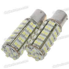 1156 led 310 lumen 6500k brake backup white light bulbs pair dc