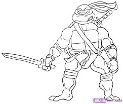 Ninja Turtle Coloring Pages Adult