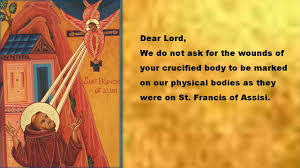 the stigmata of st francis of assisi prayer