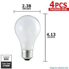 philips 60w 120v a19 soft white e26 incandescent l 4 bulbs
