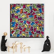 großhandel zz1385 moderne leinwand kunst keith haring leinwand bilder ölkunst malerei für wohnzimmer schlafzimmer dekoration ungerahmt leinwand kunst