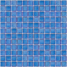 glass tile 1 inch transparent medium blue glass tile